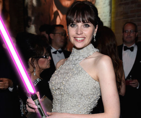 Felicity Jones LightSabre 1428689932