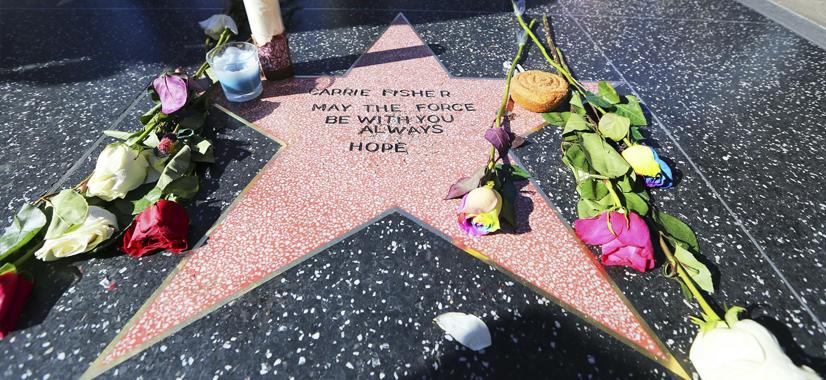 Carrie Fisher Ganha Estrela Feita Por Fãs Na Calçada Da Fama