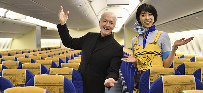 All Nippon Airways Inaugura Avião Inspirado No C-3PO!