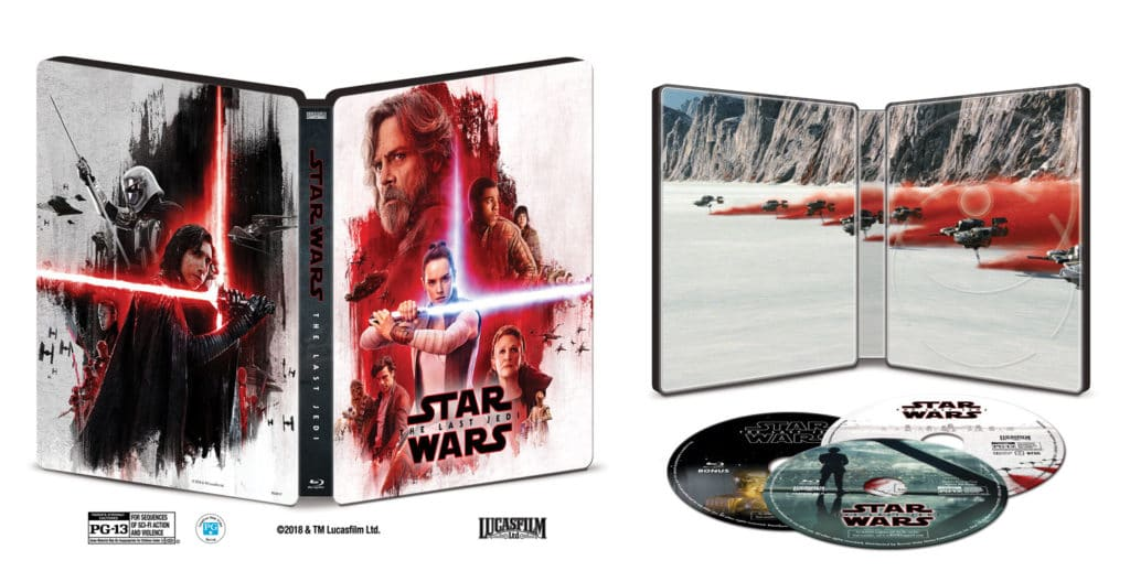 The Last Jedi SteelBook Best Buy Bluray Inside 1024×528