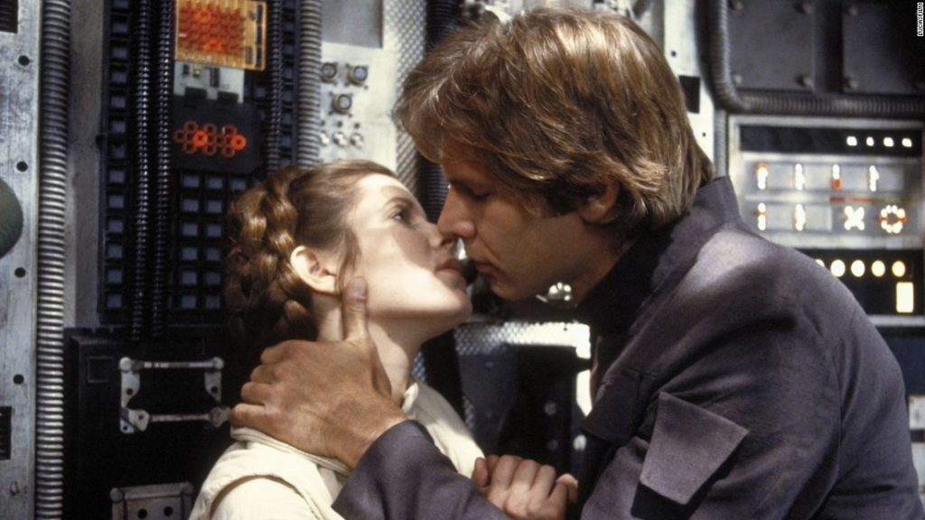 Leia and Han Solo Empire Strikes Back