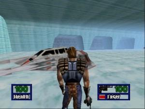 A primeira fase a pé mostrava Dash tentando escapar da Base Eco em Hoth durante o ataque Imperial