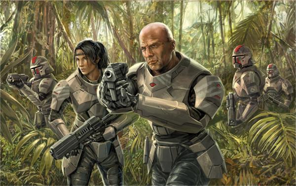 Dessel, o futuro Darth Bane, lidera seu Esquadrão Sith conhecido como Gloom Walkers